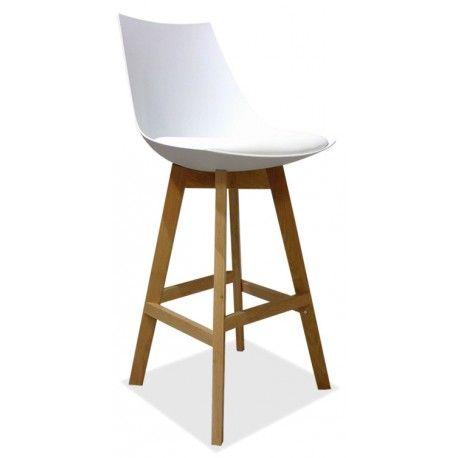 Moderne Witte Barstoelen.Kelly Witte Barstoel In Scandinavische Stijl Depot Design