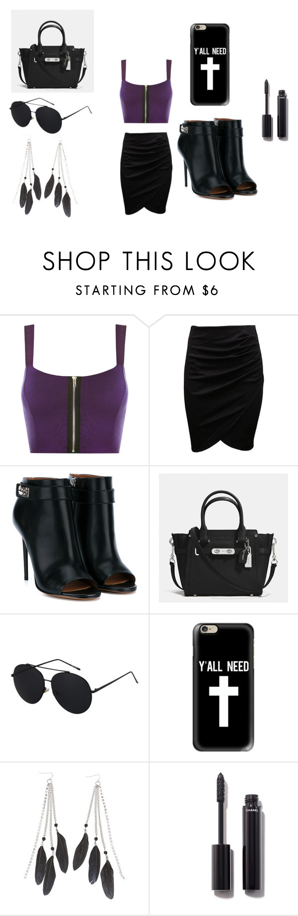 """""""Girls Night Out"""" by laila-meredith on Polyvore featuring WearAll, Givenchy, Coach, Casetify, Charlotte Russe and Chanel"""