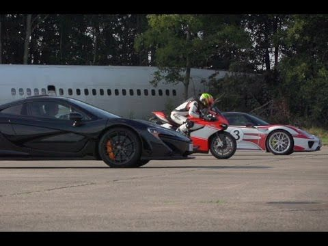 Ultimate Drag Race Mclaren P1 Vs Porsche 918 Spyder Vs Ducati
