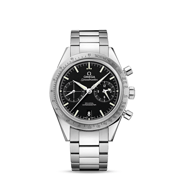 Speedmaster Speedmaster '57 Omega Co-Axial Chronograph 41.5mm - ref. 331.10.42.51.01.001 : The OMEGA Speedmaster is one of OMEGA's most iconic timepieces. Having been a part of all six lunar missions, the legendary Speedmaster is an impressive representation of the brand's adventurous...