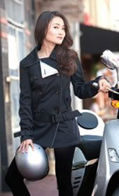 I want.  A motorcycle jacket that actually looks good.  And with a gazillion sizes, one will surely fit me.