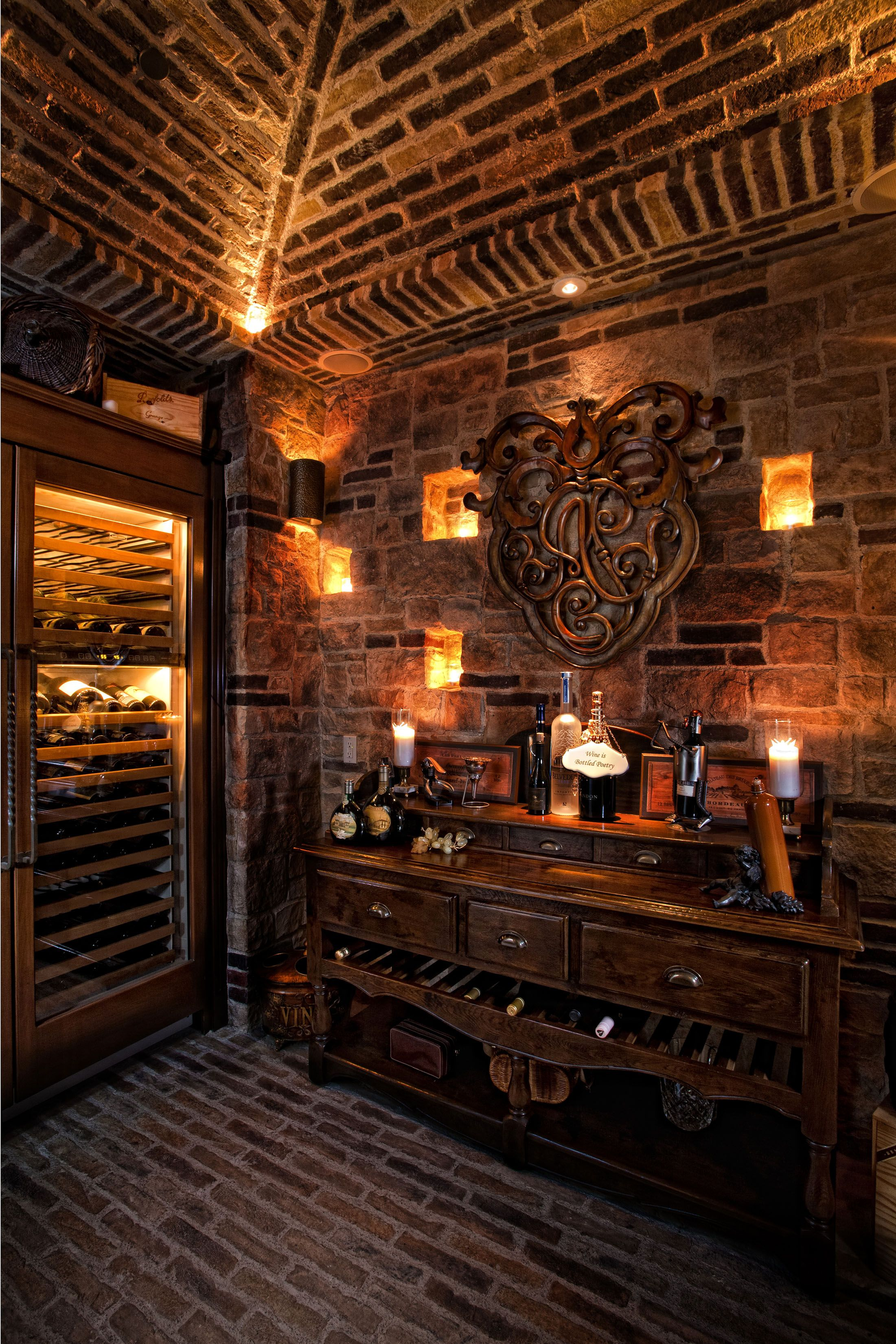 Cigar Rooms Laguna Hills Country French Manor Mediterranean Wine Cellar