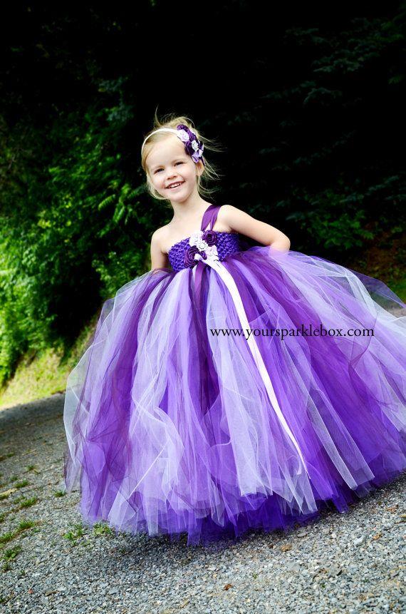 Purple Plum Lavender Tutu Dress for pageants por YourSparkleBox ...