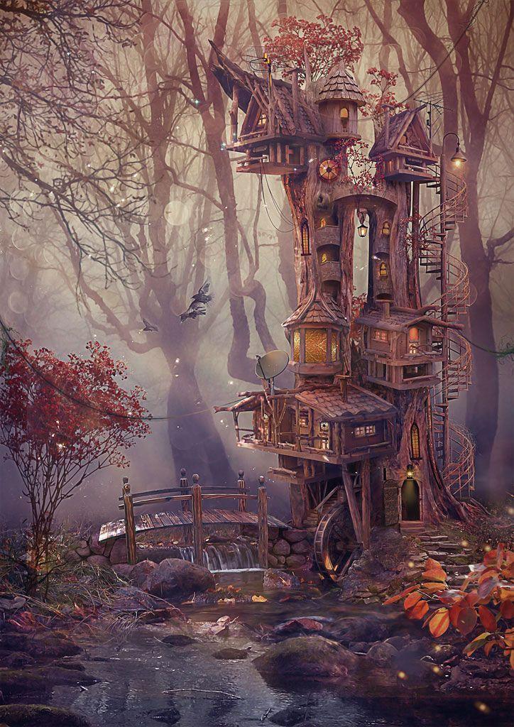 Photo of Lodge in the wood by Vasylina.devianta … on @deviantART – #auf #DeviantArt # …