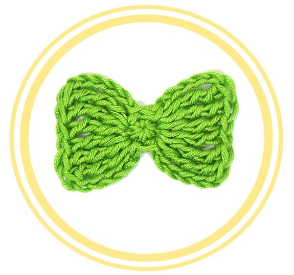 Lazo o pajarita de crochet, ¡sigue el patrón! | Moños tejidos, Buena ...