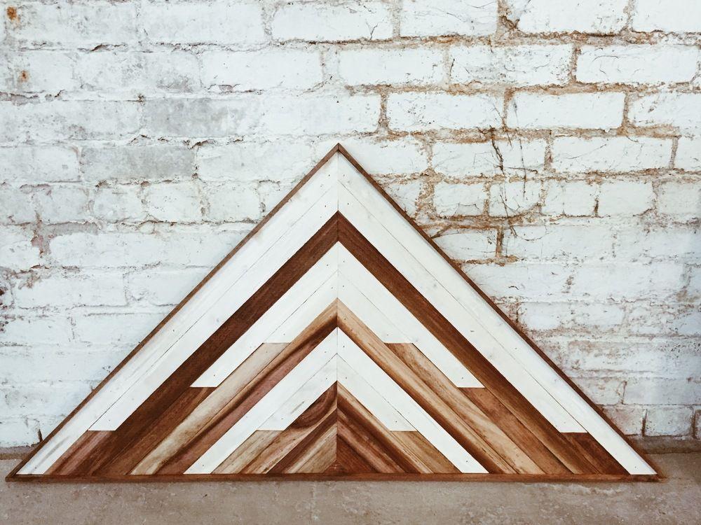 Aleksandra Zee Is An Oakland Based Artist And Woodworker Creating Beautiful Patterned Wall Hangings Reclaimed Wood Wall Art Wooden Wall Art Modern Coffee Shop