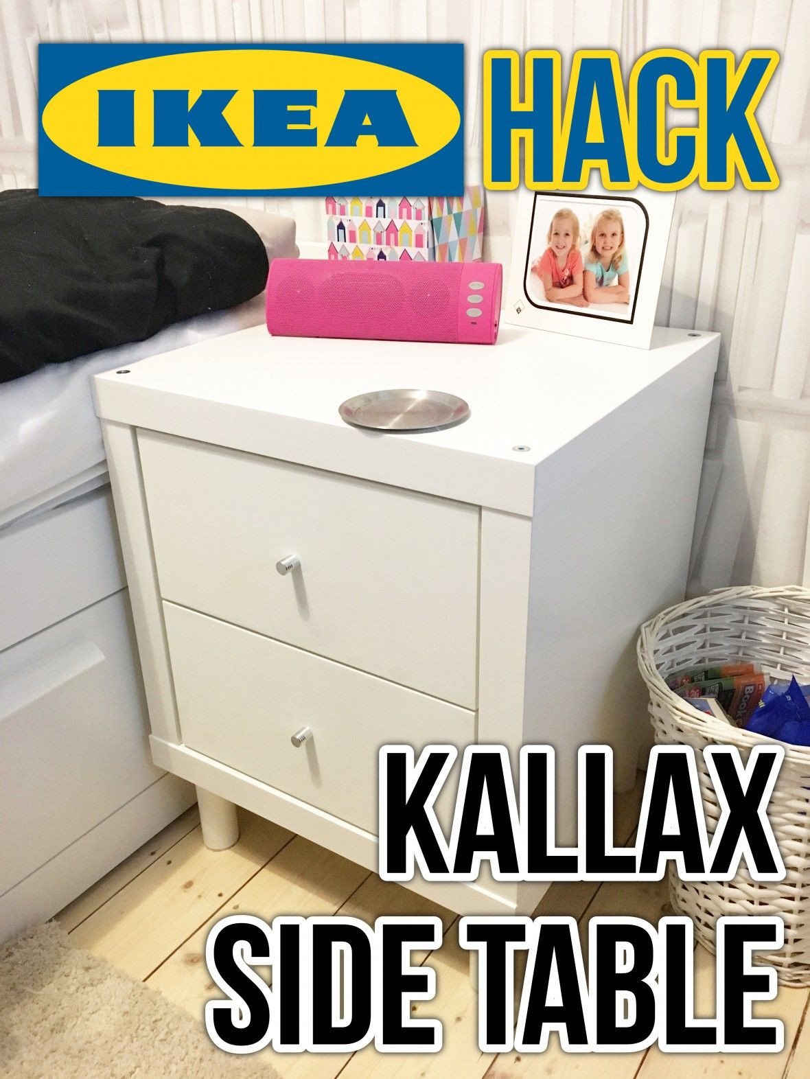 Kallax Couchtisch Our Ikea Hack Kallax Side Table Ikea Hacks Transformación De