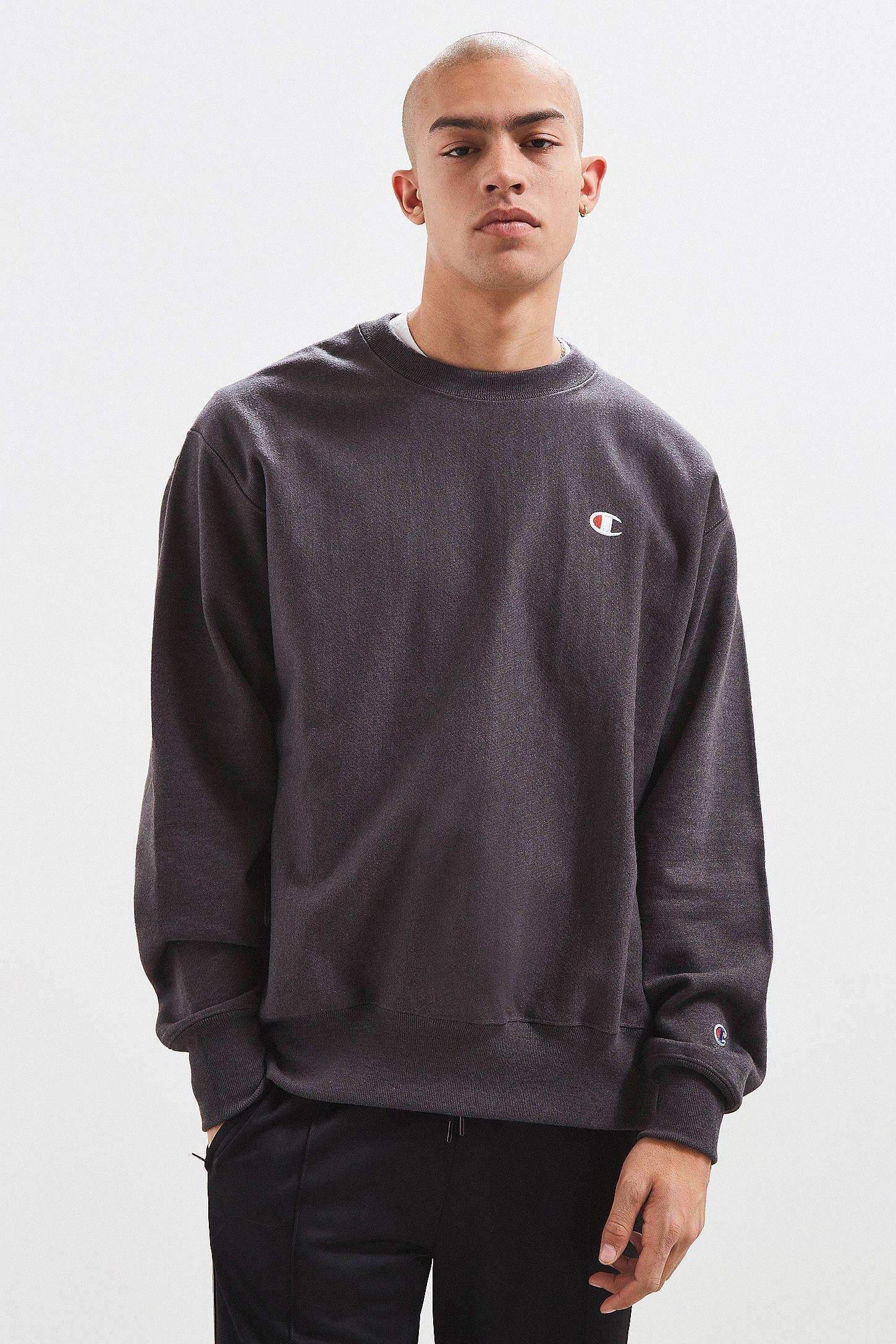 Champion Reverse Weave Fleece Crew Neck Sweatshirt Champion Reverse Weave Crewneck Outfit Men Champion Crewneck Outfit [ 2175 x 1450 Pixel ]