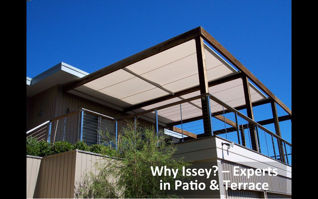 Modern Retractable Blinds And Awnings. Sit Out In The Sun, Yet Be Covered By