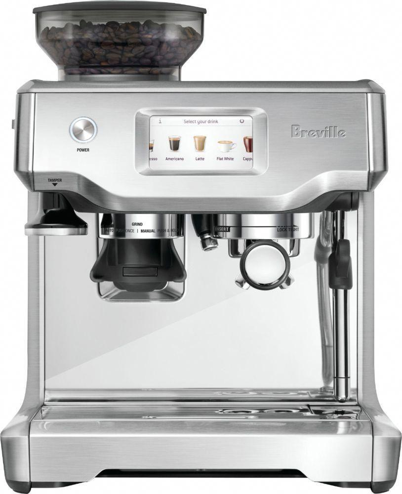 Breville Barista Touch Coffeemaker Stainless Steel Silver Espressohacks Automatic Espresso Machine Espresso Machine Reviews Espresso Machine