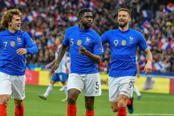 On Pitch Nike France Centenary Kit Footy Headlines France National Team Football Shirts France National