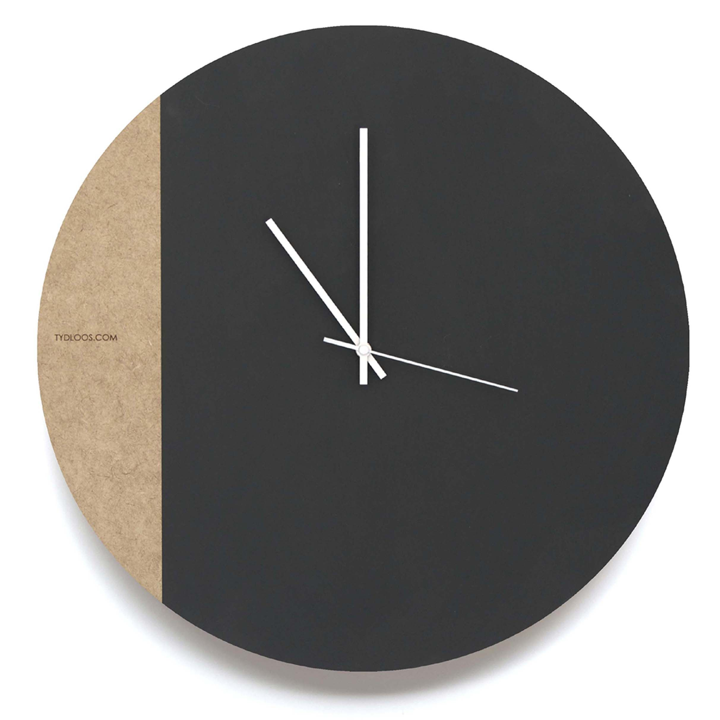 Large Minimalist Black Board Wall Clock By Tydloos At Kamersvol Father S Day Gift Ideas