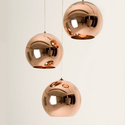 The Tom Dixon Copper Shade Pendant Highlights The Dynamic And Flexible Properties Copper Pendant Lights Glass Ball Pendant Lighting Copper Kitchen Accessories