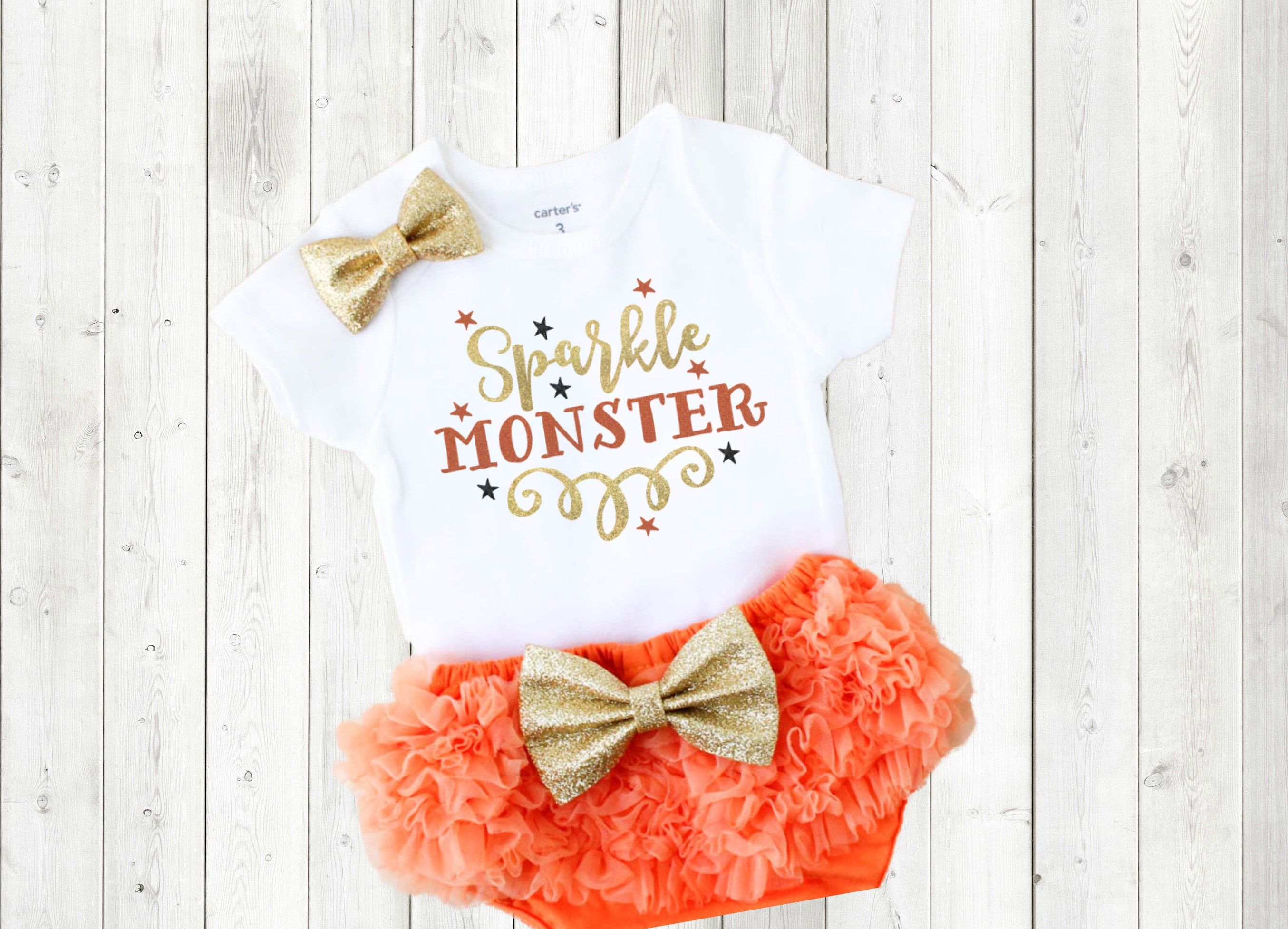 sparkle monster outfit baby girl halloween clothes girl