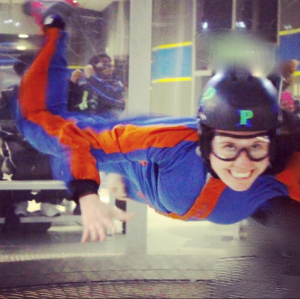 Indoor sky diving - looks like fun!