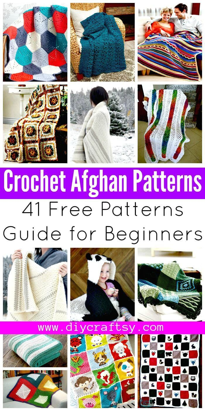 Crochet Afghan Patterns - 41 Free Patterns for Beginners | Mantas ...