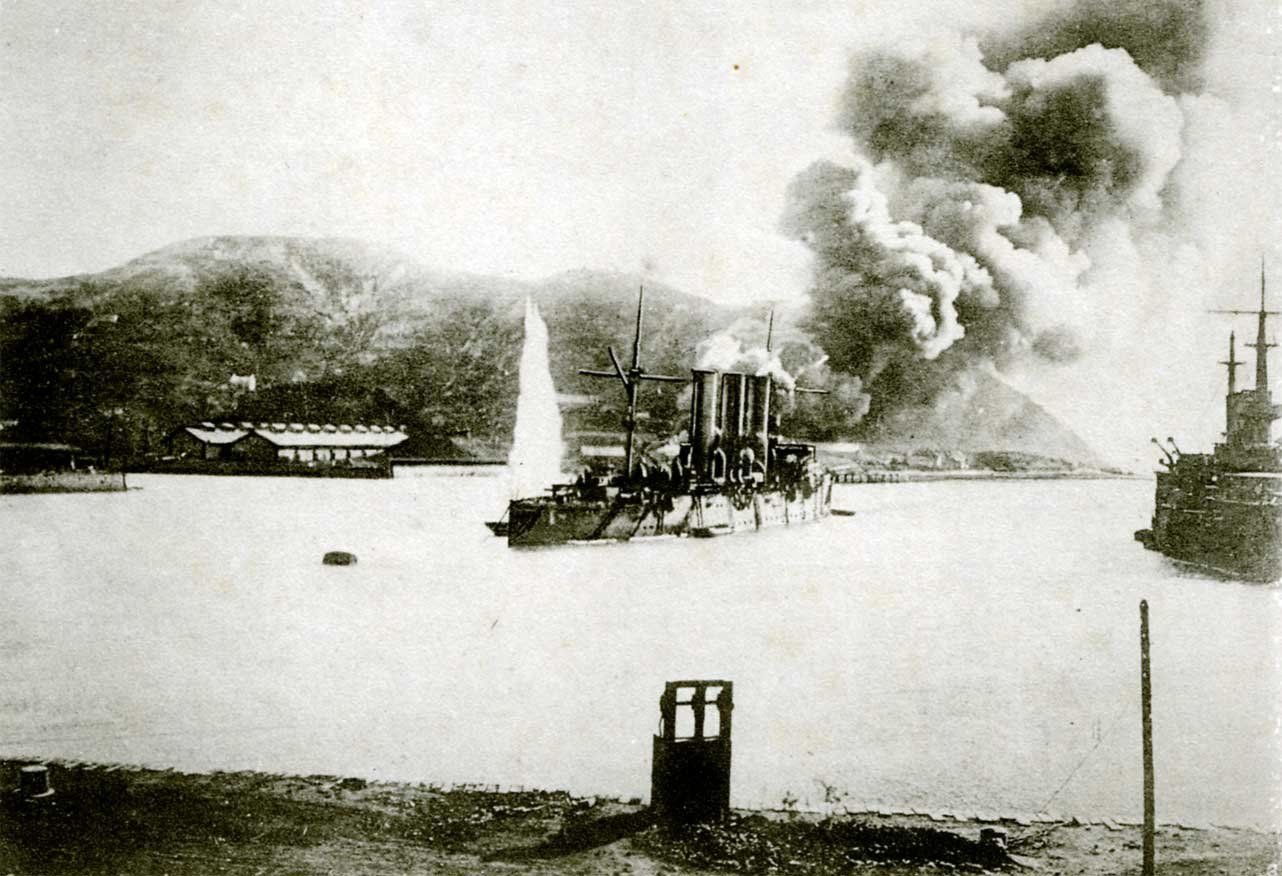 Bombardment during the Siege of Port Arthur
