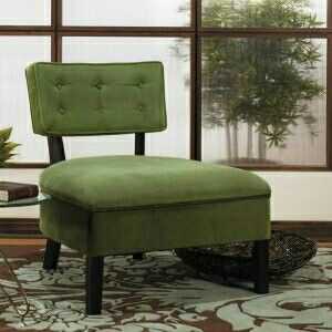 Perfect For Fall For The Home Pinterest - Curves-button-back-chair-in-chocolate-brown-and-green