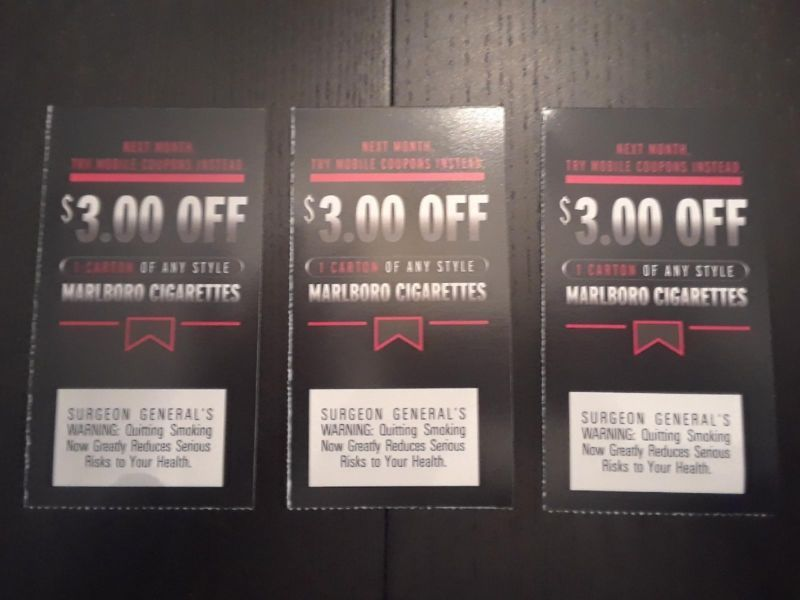 Marlboro cigarette coupons (#142982483313) - Gift Cards