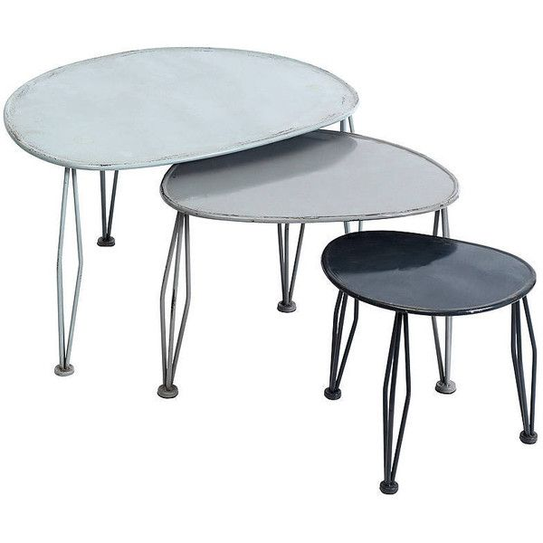 Best Bell Blue Metal Nesting Tables 285 Liked On Polyvore 640 x 480