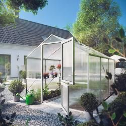 Photo of Kgt Gewächshaus Rose Ii (2,17 x 2,33 x 2,15 m, Polycarbonat, Glasstärke: 10 mm, Anthrazitgrau) Kgt