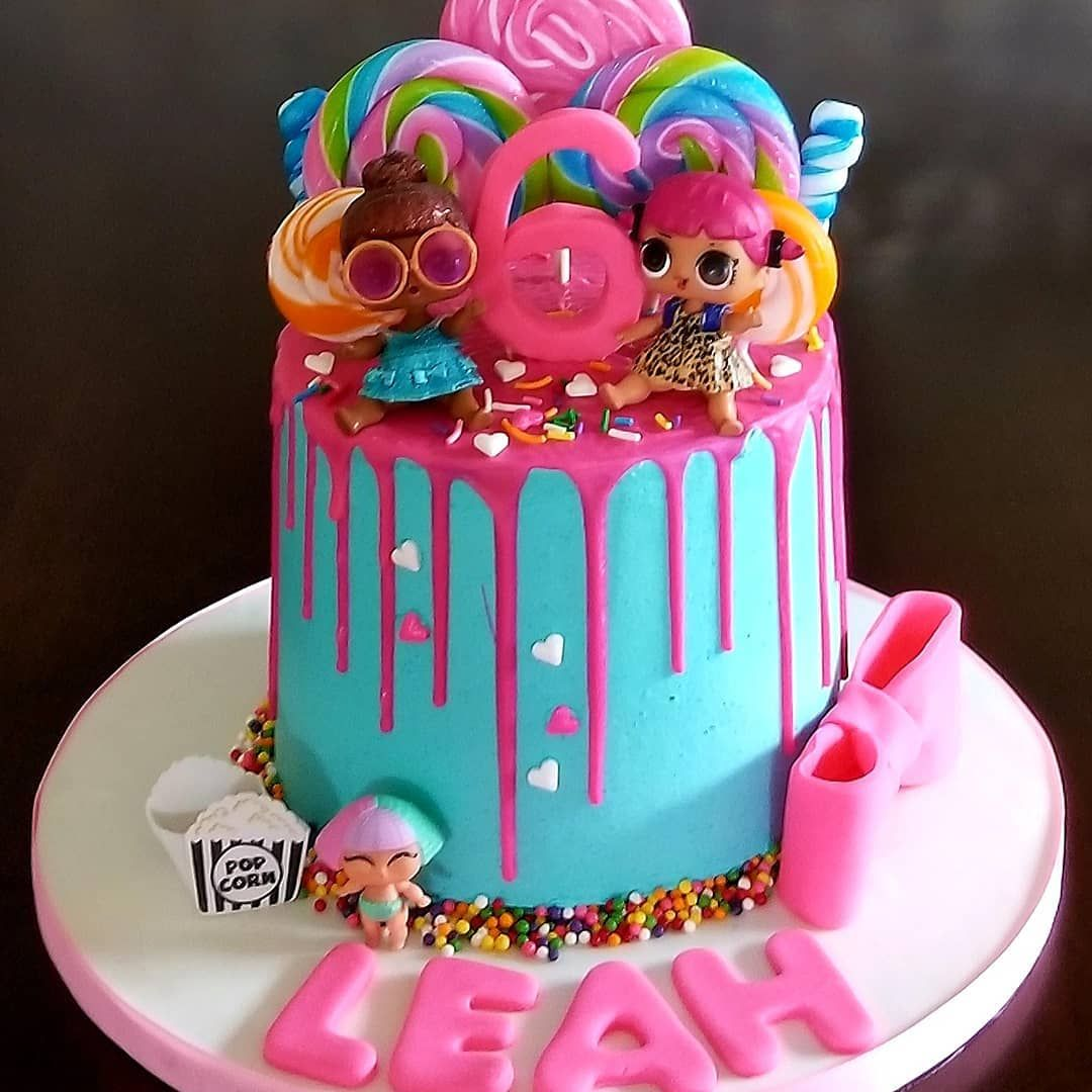 A Beautiful Colorful Lol Surprise Doll Birthday Cake For A Special