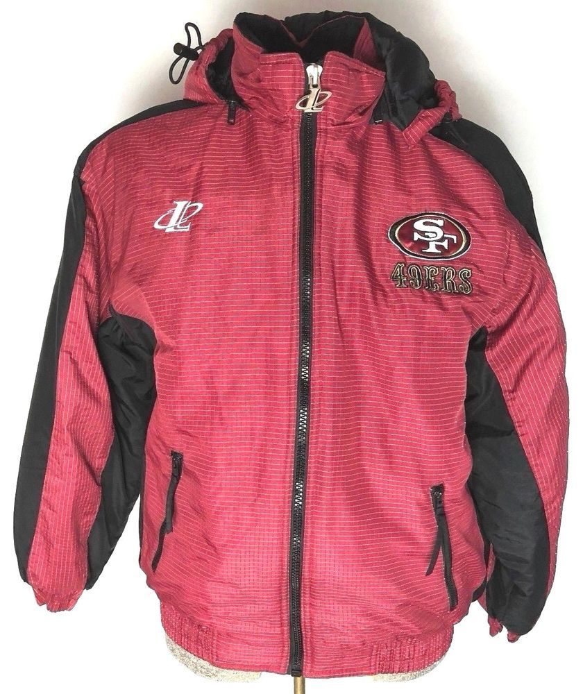 09bea804 NFL San Francisco 49ers Pro Line Logo Athletic Red Hooded Logo Coat ...