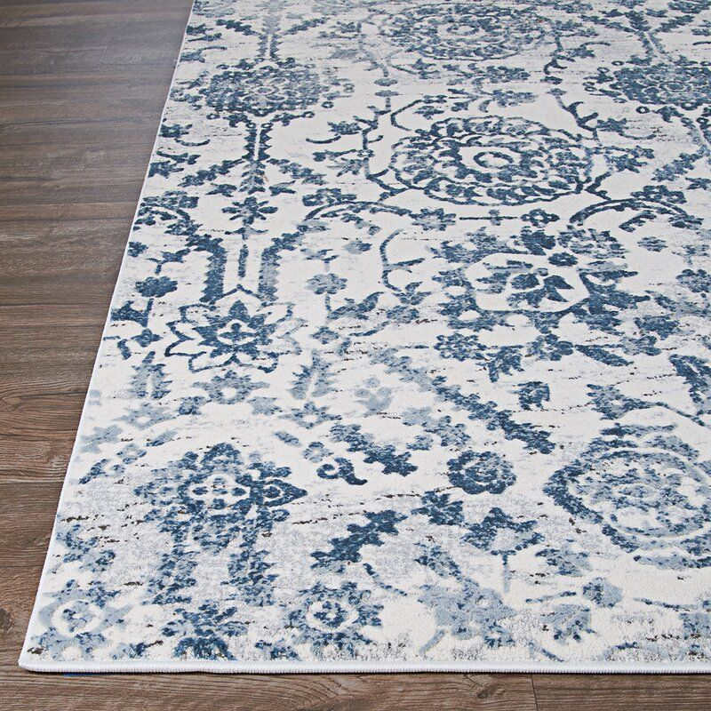 Emily Steel Blue Area Rug In 2020 Blue And White Rug Blue Area Rugs Area Rugs