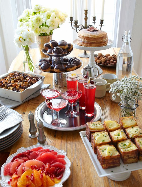 Wonderful Christmas Brunch Party Ideas Part - 3: Christmas Morning Brunch - 10 Christmas Buffet Table Ideas On Tabletop  Tuesday Decorating Files