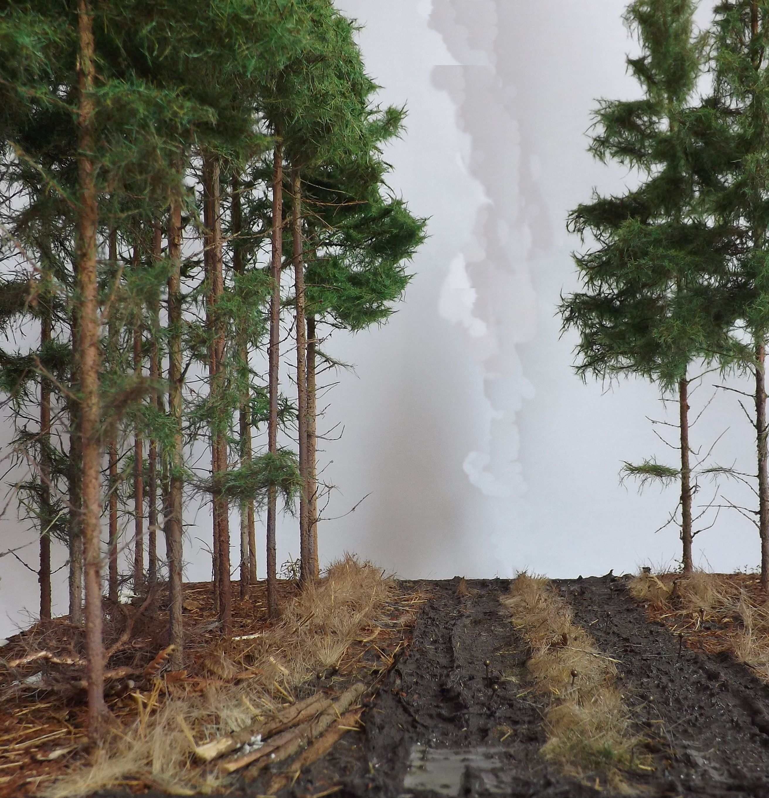 Pine Woods 1 35 Scale Diorama Base By Terence Young Model Tree Scenery Beautiful Landscapes
