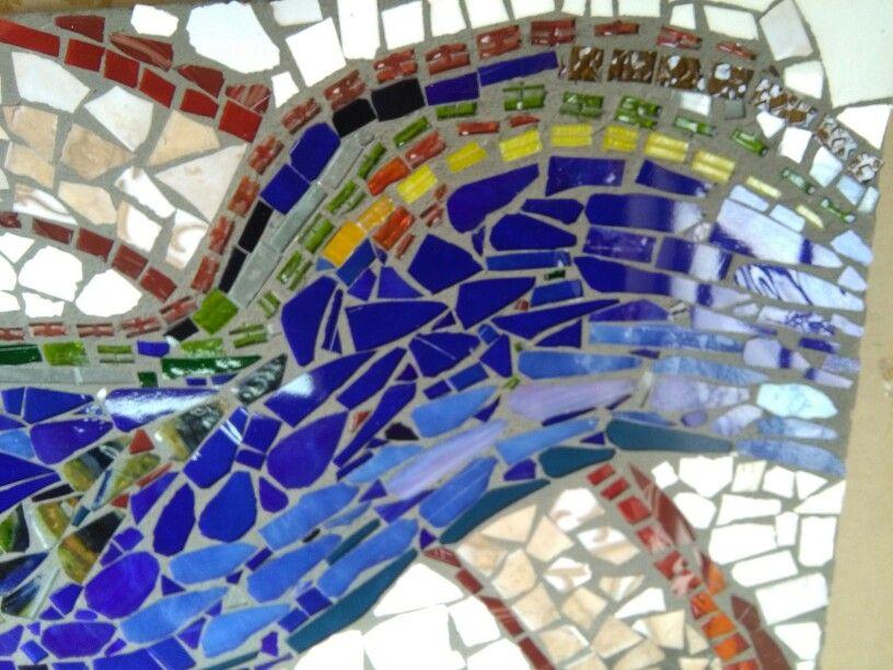 Deja Que Fluya Obra Realizada Por Mi En Vidrio Y Mosaico Mosaicos Vidrio Todo Fluye