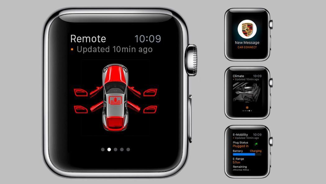 Porsche Car Connect für Apple Watch UX /UI Apple watch