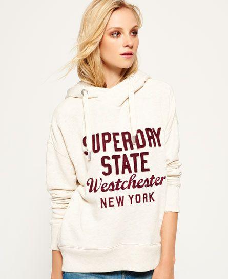 Superdry Applique Hood Sweat-Shirt /À Capuche Femme