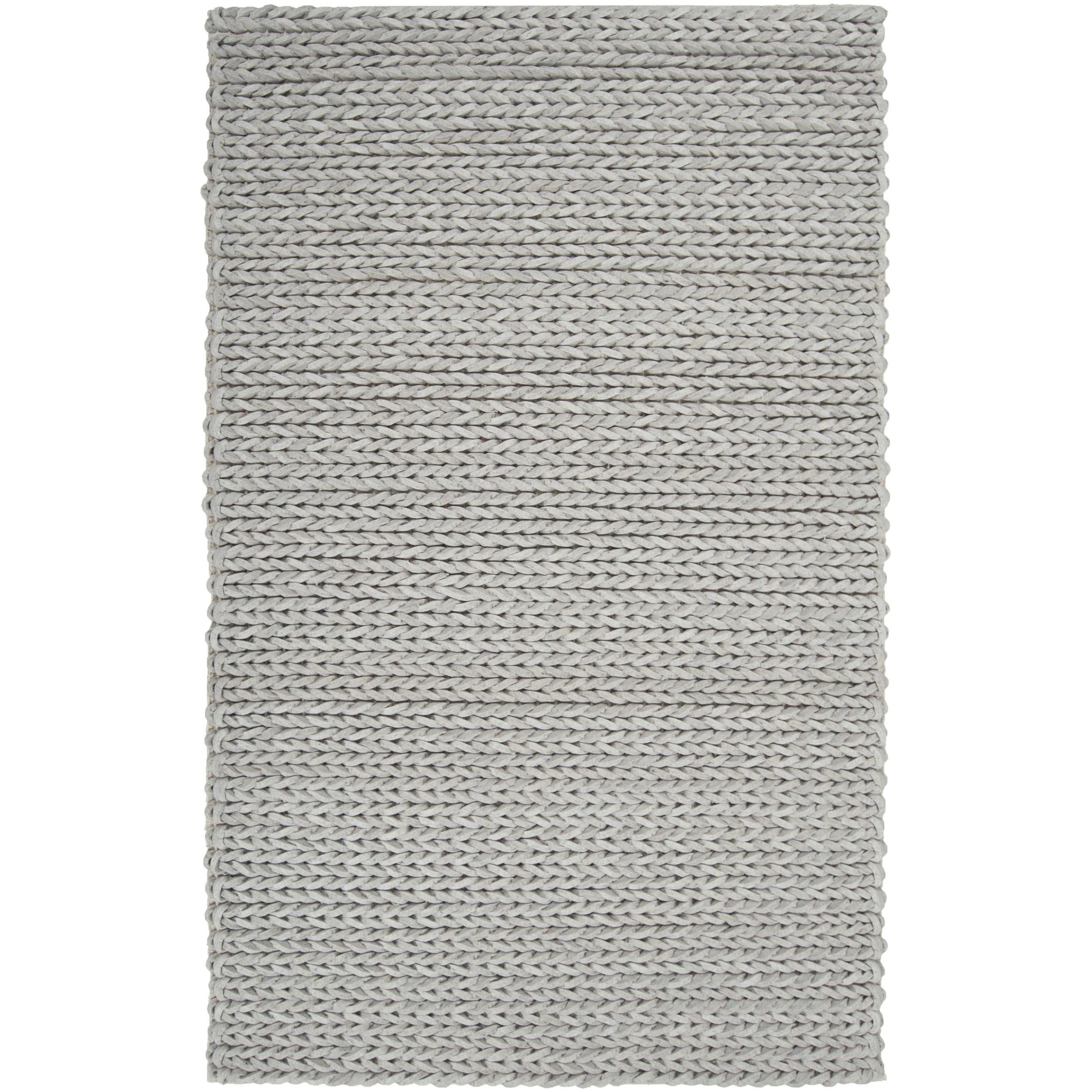 Hand-woven Terni Braided Texture New Zealand Wool Rug ( 5' x 8' )