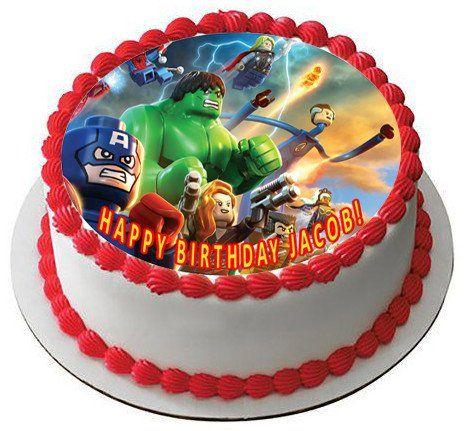Image result for lego avengers birthday cake Nelsons Big Lego 6