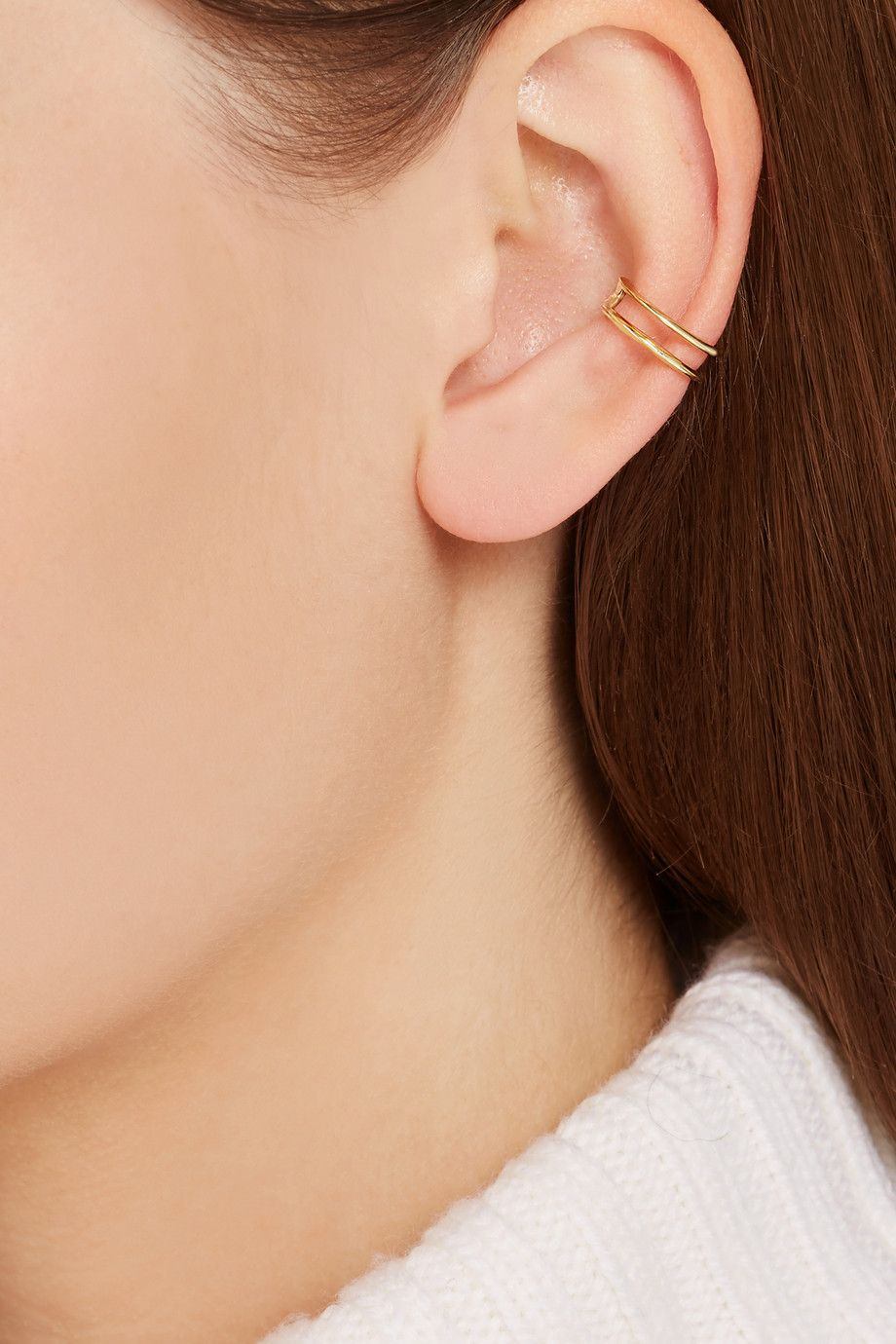 Bump after piercing  Wendy Nichol  karat gold ear cuff  NETAPORTERCOM  Jewellery