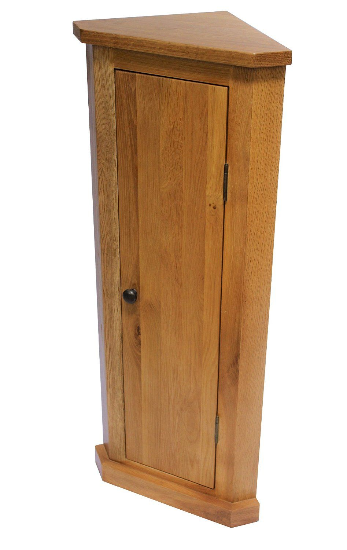 oak corner cabinet bathroom cabint hall stand plant stand lamp ...