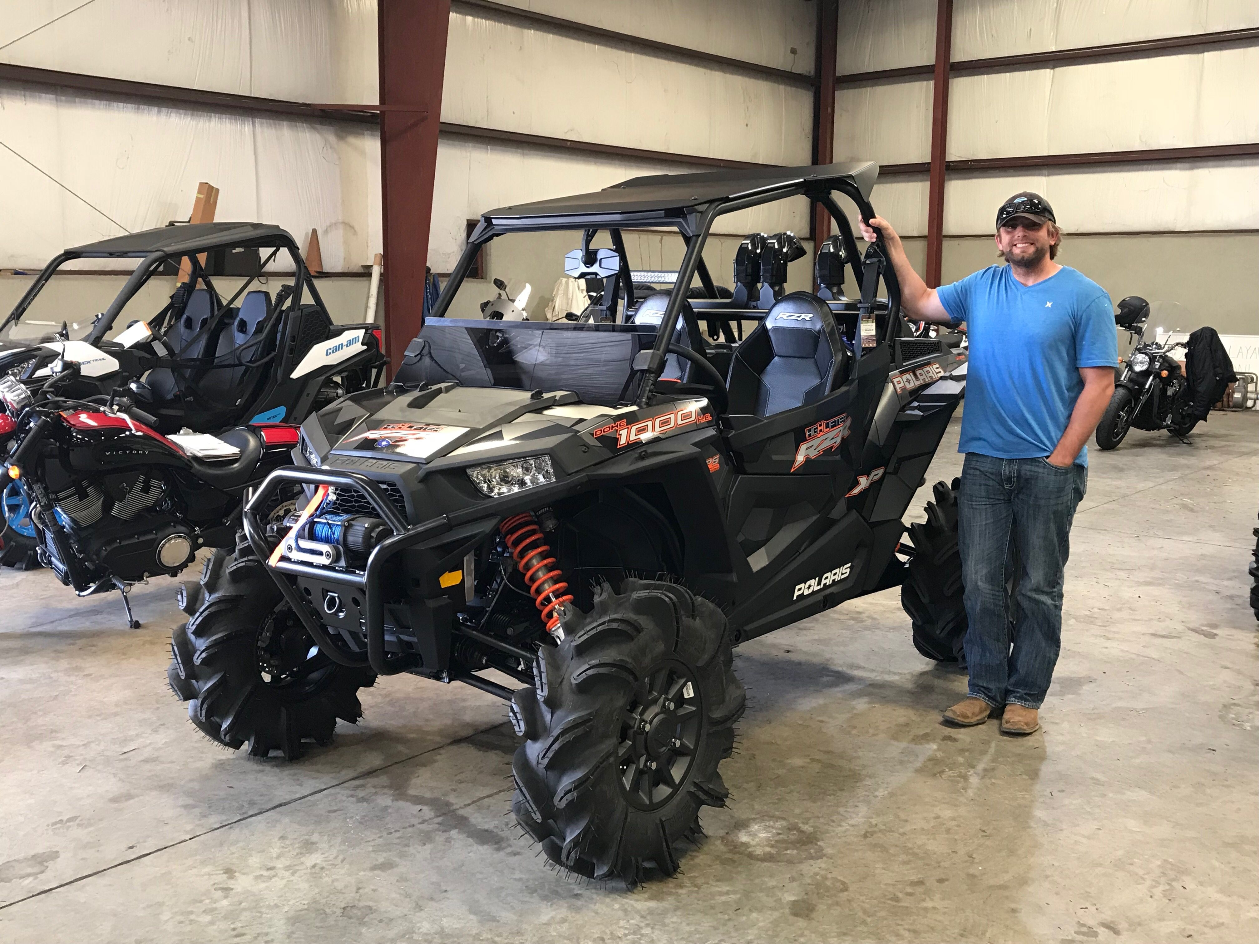 timeless design 3b057 8eaf8 Congratulations to Michael Kasell from Madison, MS for purchasing a 2018  Polaris RZR XP 1000 High Lifter Edition at Hattiesburg Cycles.  polaris