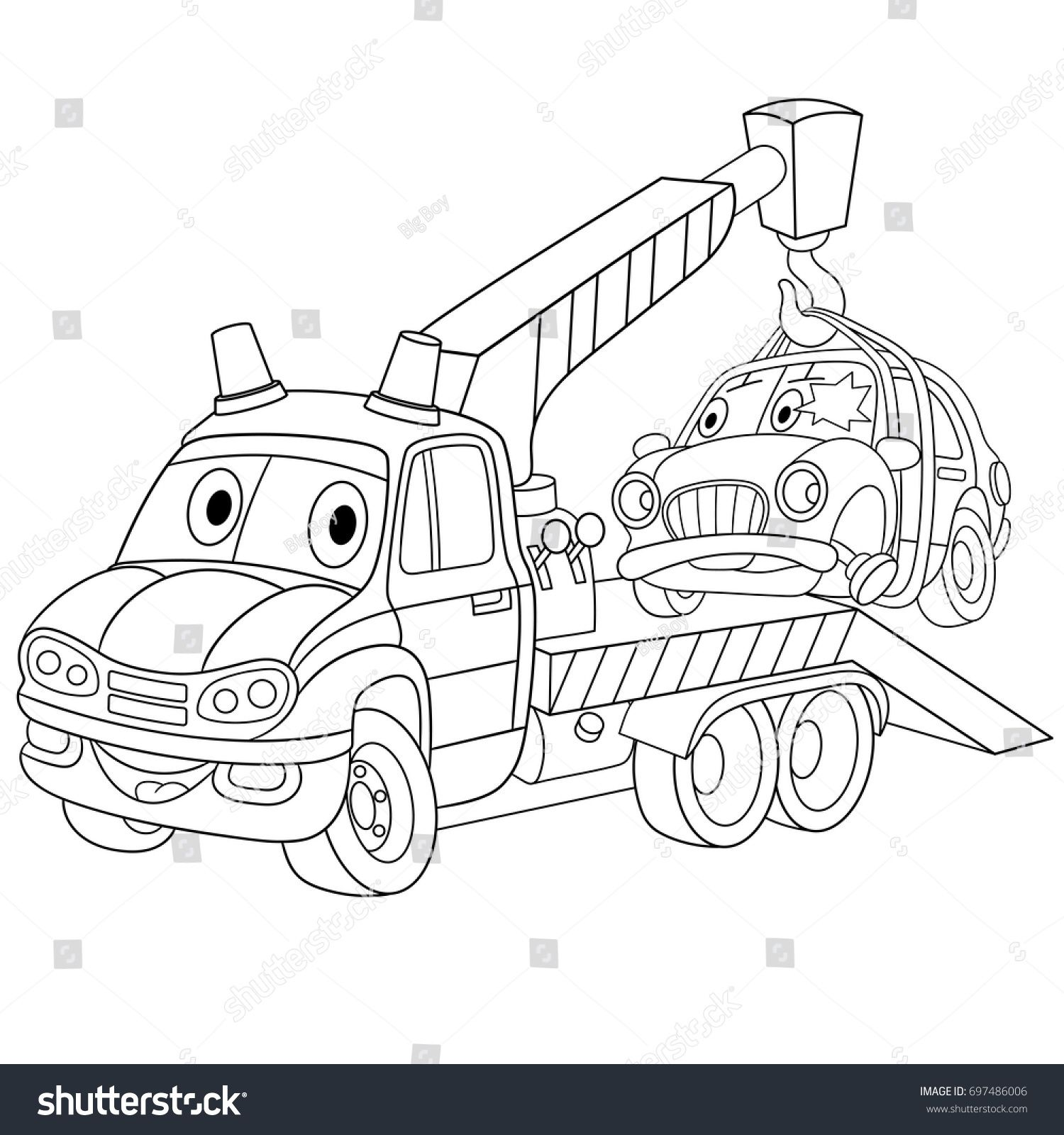 Pin By Stephanie Madore On Dibujos81 Designs Coloring Books Coloring Pages Tow Truck