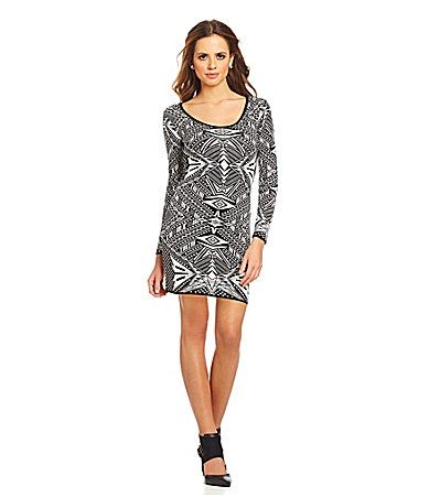 76ac484e31 Gianni Bini Taryn Tribal Sweater Dress  Dillards