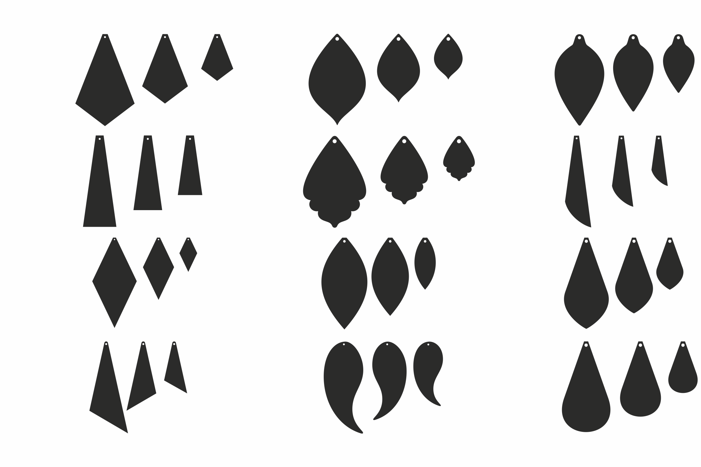 6797+ Free Svg Files For Cricut Leather Earrings File for DIY T-shirt, Mug, Decoration and more
