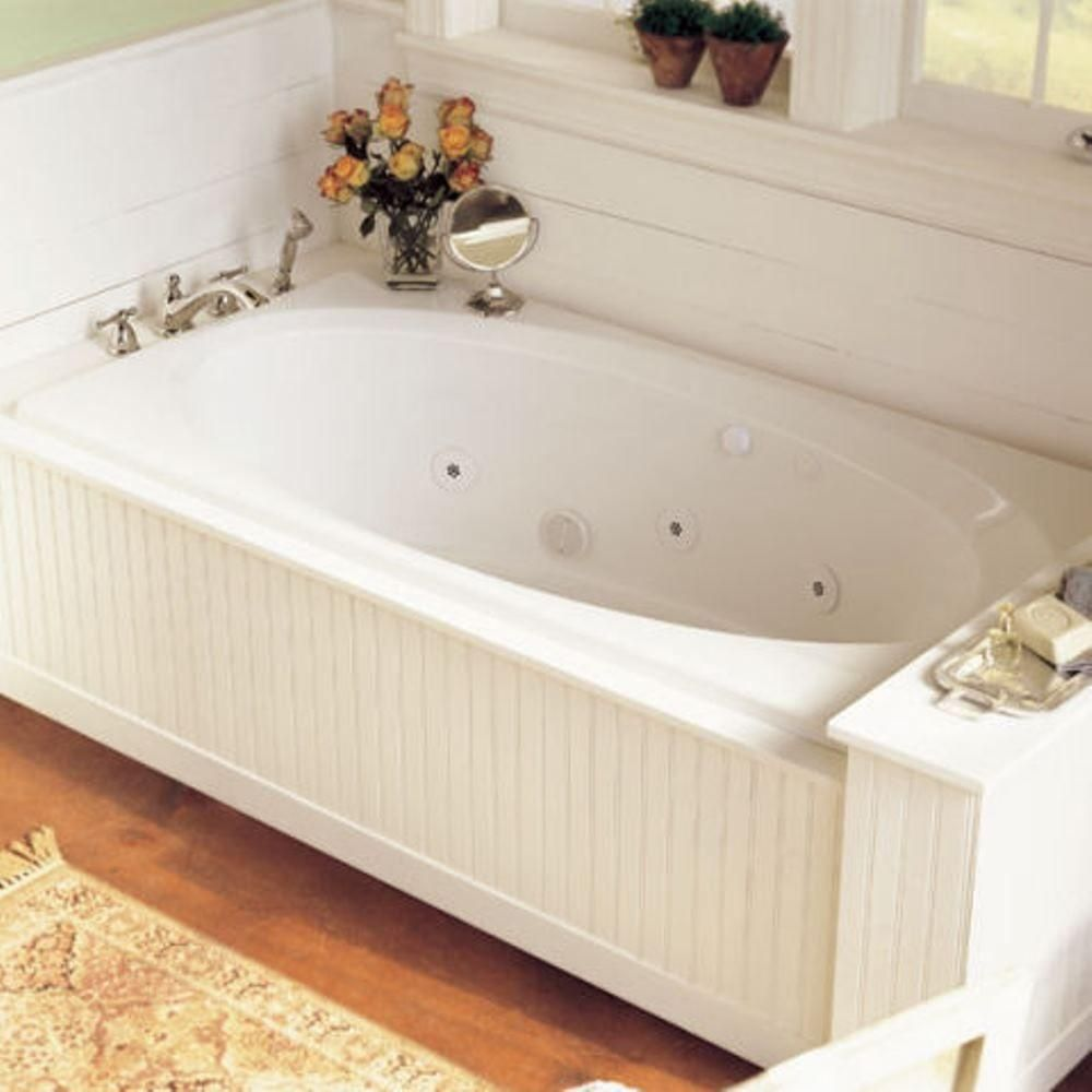 American Standard Evolution 5 1 2 Ft Whirlpool Tub With Everclean And Reversible Drain In White 264 Bathroom Renovation Cost Whirlpool Tub Bathroom Renovation