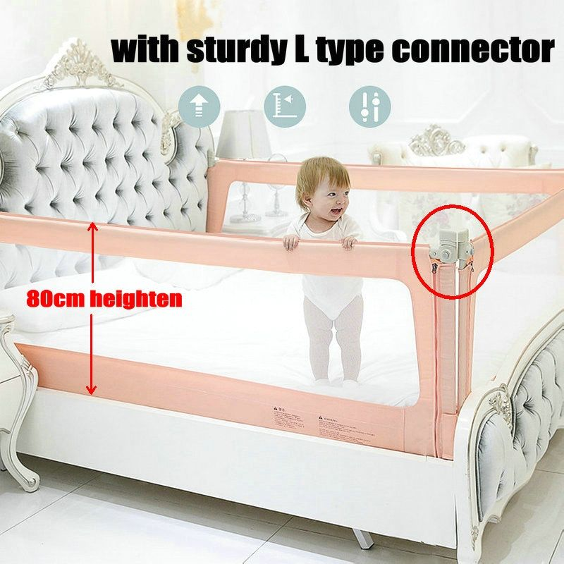 Mesh Bed Rail For Toddlers New 80cm Heighten Bed Guard For Kids