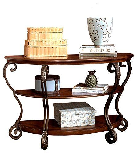 Curved Moon Sofa Table Half Round Wood Carved Legs 2