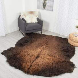 Buffalo Robe / Bison Hide Rug #087 (45 square feet)