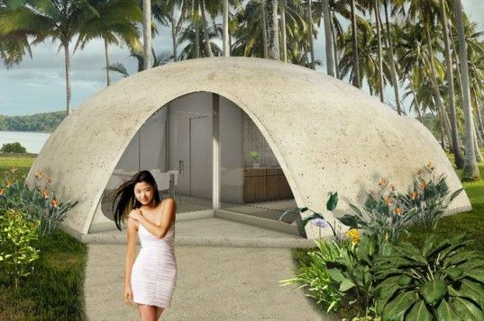 Colorful Binishell Dome Homes Made From Inflatable Concrete Cost