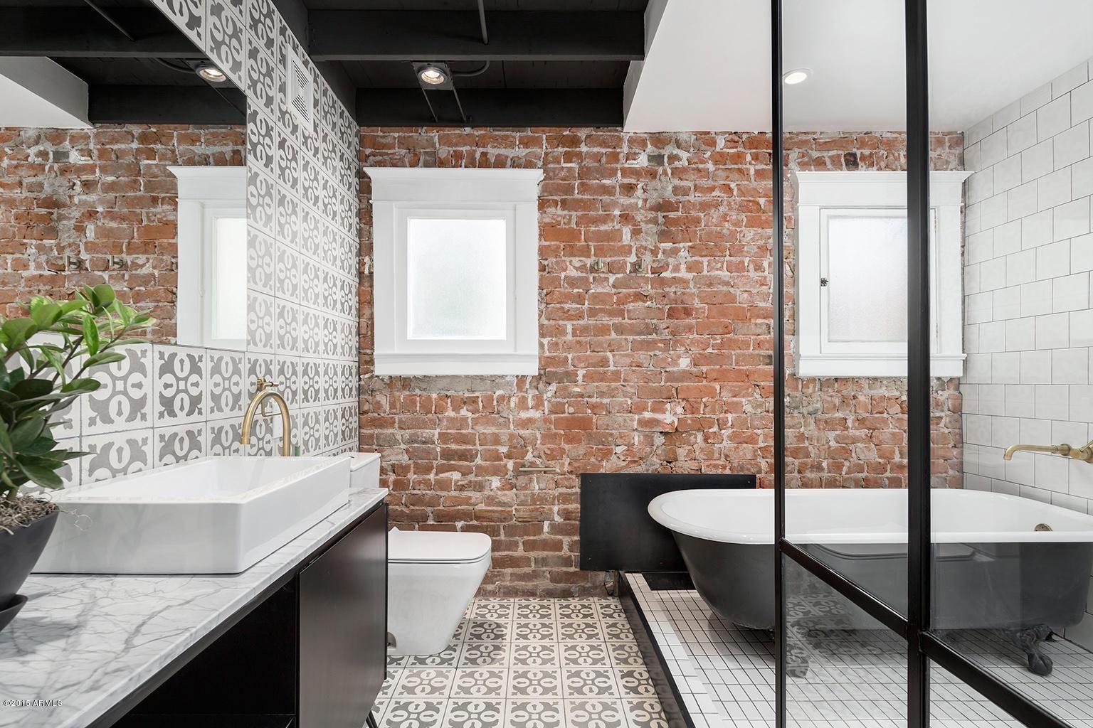 Exposed Brick Wall Modern Bungalow Style Brick Bathroom Brick Interior Wall Brick Interior