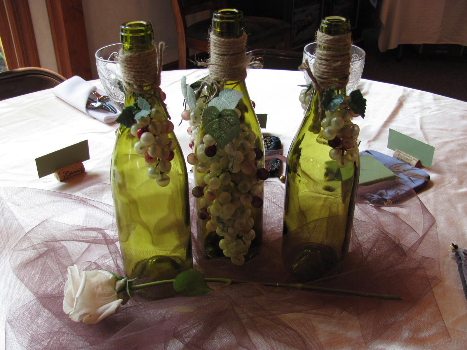 centerpiece for wine theme bridal shower random