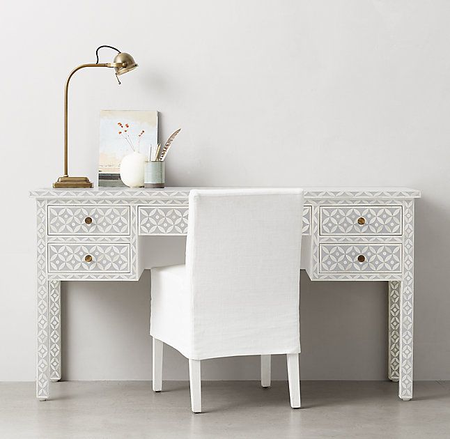 RH TEENu0027s Salma Mosaic Storage Desk:With A Striking Geometric Motif Set In  Grey Resin, Our Handcrafted Collectionu0026 Delicate Mosaic Celebrates The  Ancient ...