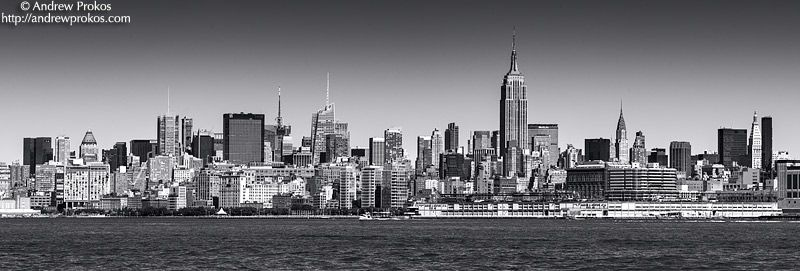 Panoramic Skyline of New York City and Hudson River Fine Art